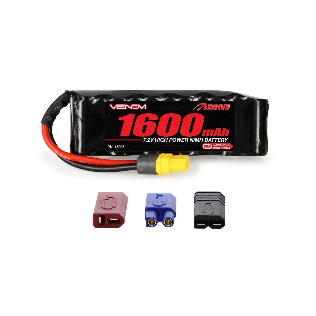 Venom Drive 1600mAh 7.2V 6 Cell NiMH UNI Plug 101x17x31 mm