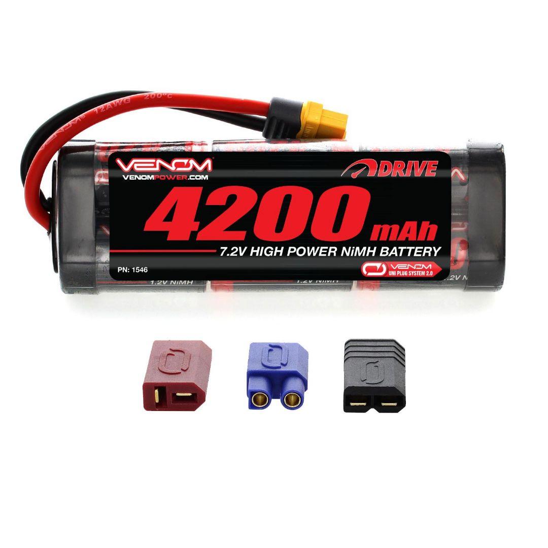 Venom Drive 4200mAh 7.2V 6 Cell NiMH UNI Plug 137x45x24 mm