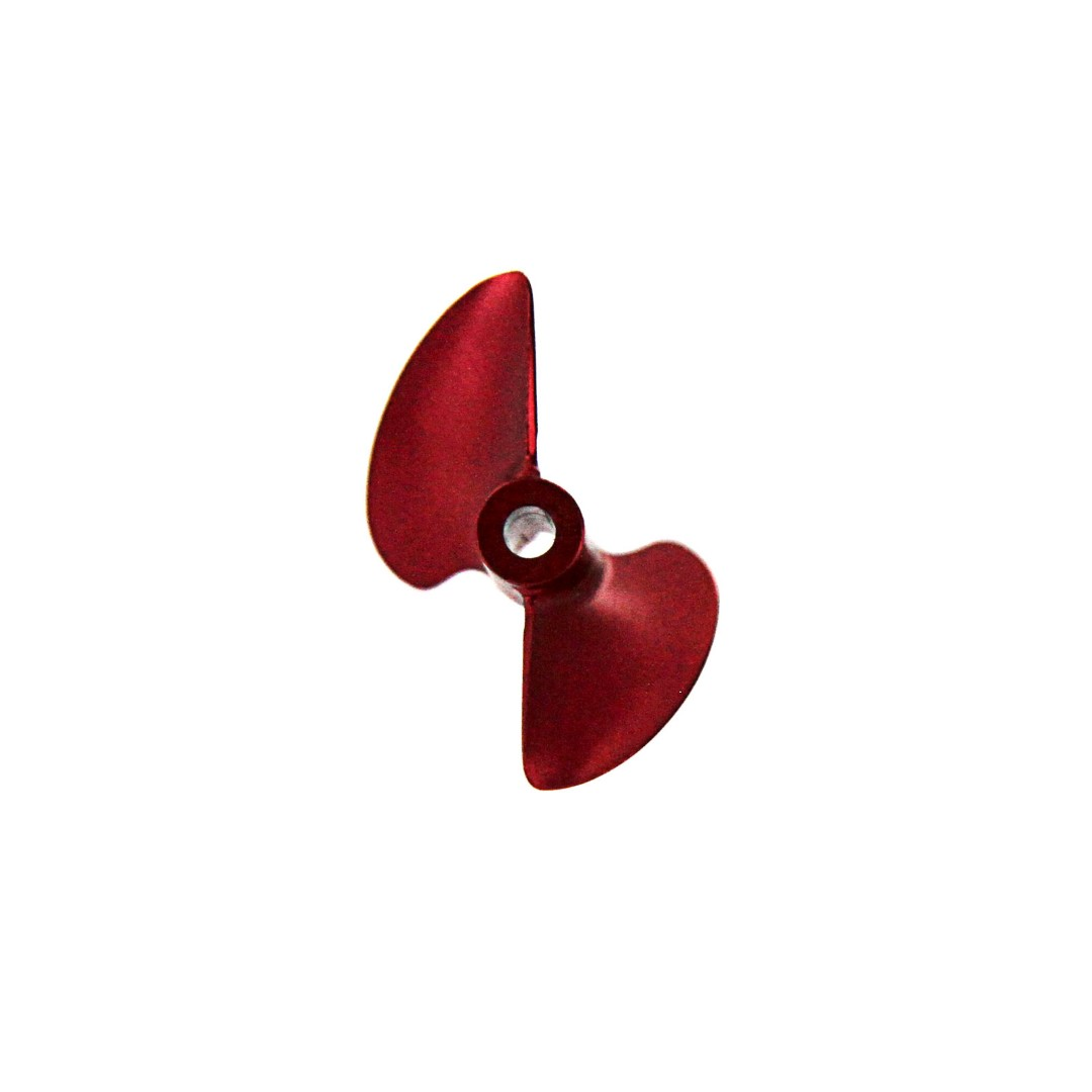 Atomik CNC Alloy Propeller 32mm P1.4 for Barbwire 2 RC Boat - Red