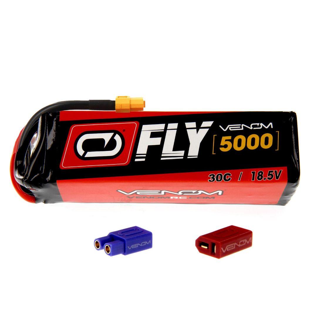 Venom Fly 5000mAh 5S 18.5V 30C LiPo UNI Plug Soft Case 149x43.5x39mm