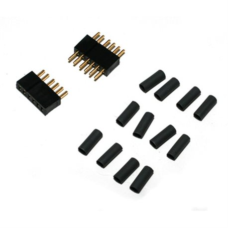 Deans Micro 5 Pin Connector Plugs (1 pair)