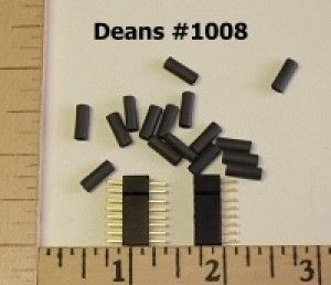 Deans Micro 8 Pin Connector Plugs (1 pair)
