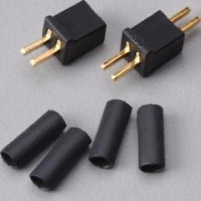 Deans Micro Plug 2NB Black Non-Polarized Connector (Reversible)