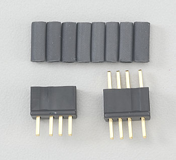Deans Micro Plug 4R Black Polarized Connector