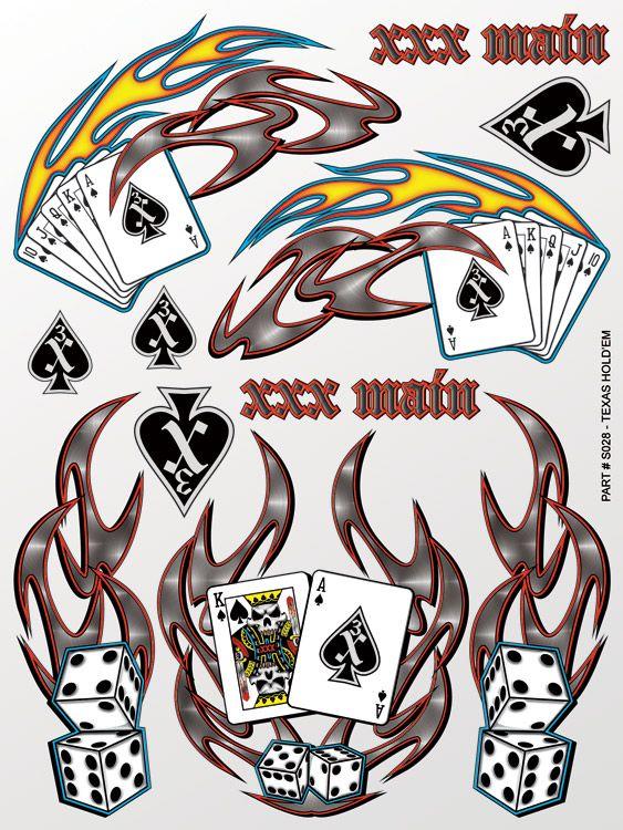 XXX Main Racing Texas Hold'em Sticker Sheet